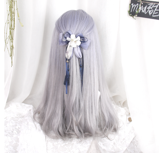 Purple/grey Gradient Harajuku Wig KW166221 - kawaiimoristore