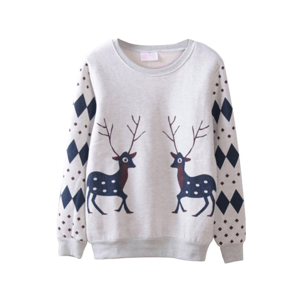 Cute Deer Printed  Sweatshirts