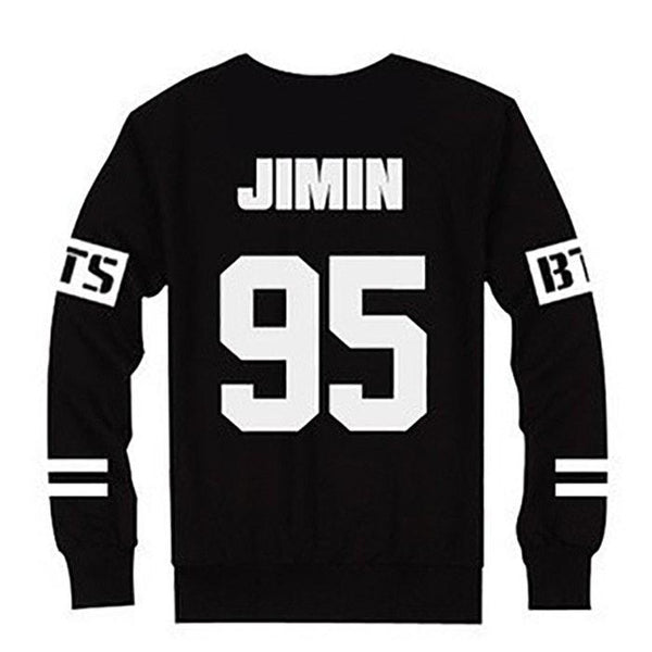 Black BTS Preppy Pullover Jumper