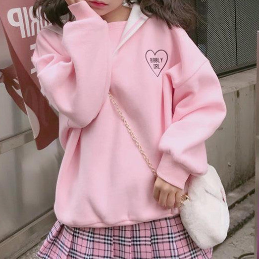 Harajuku Bubbly Girl Sailor Sweater KW1811969