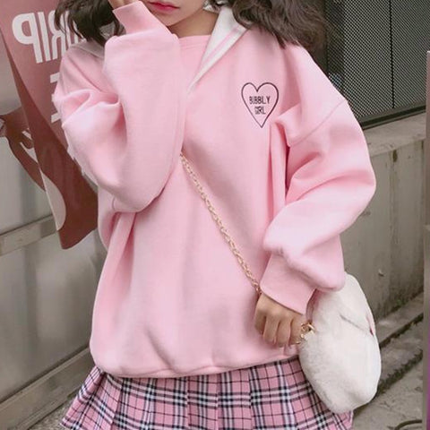 Harajuku Bubbly Girl Sailor Sweater