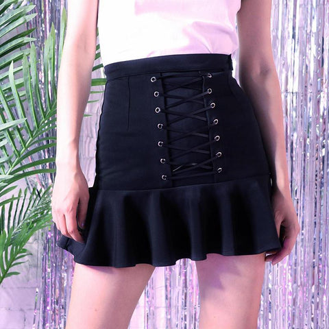 Harajuku Cross strings Skirt
