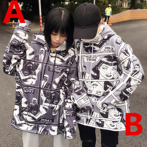 Harajuku Fashion Comic Printing Hoodie Sweatshirt/Pants KW1811668