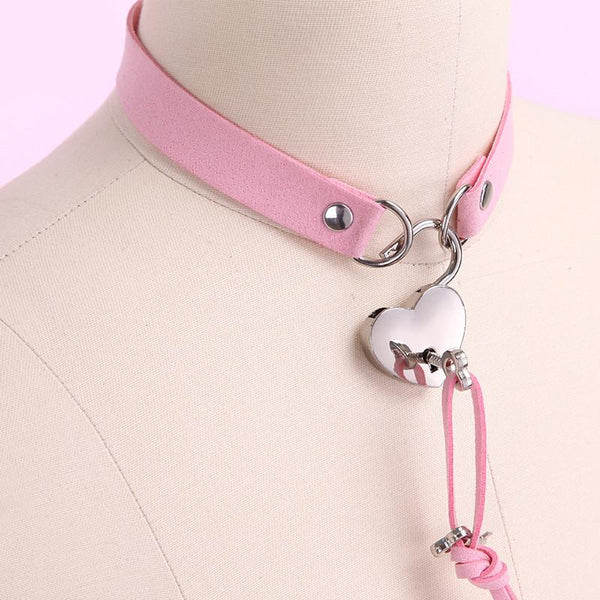 Harajuku Heart Key locker Collar KW1710880