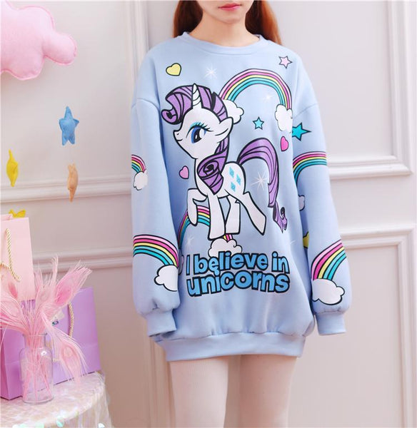Harajuku I Believe in Unicorns Sweater