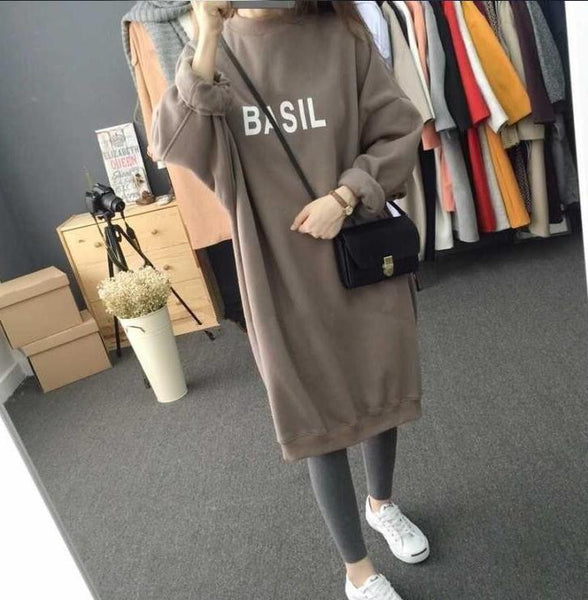 Harajuku Style Words Printing Baggy Warm Women Hoodie