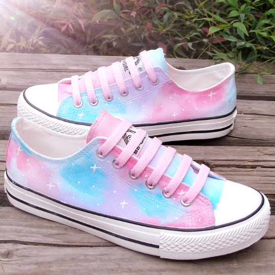 Harajuku Gradation Hand-painted Shoes KW1710945