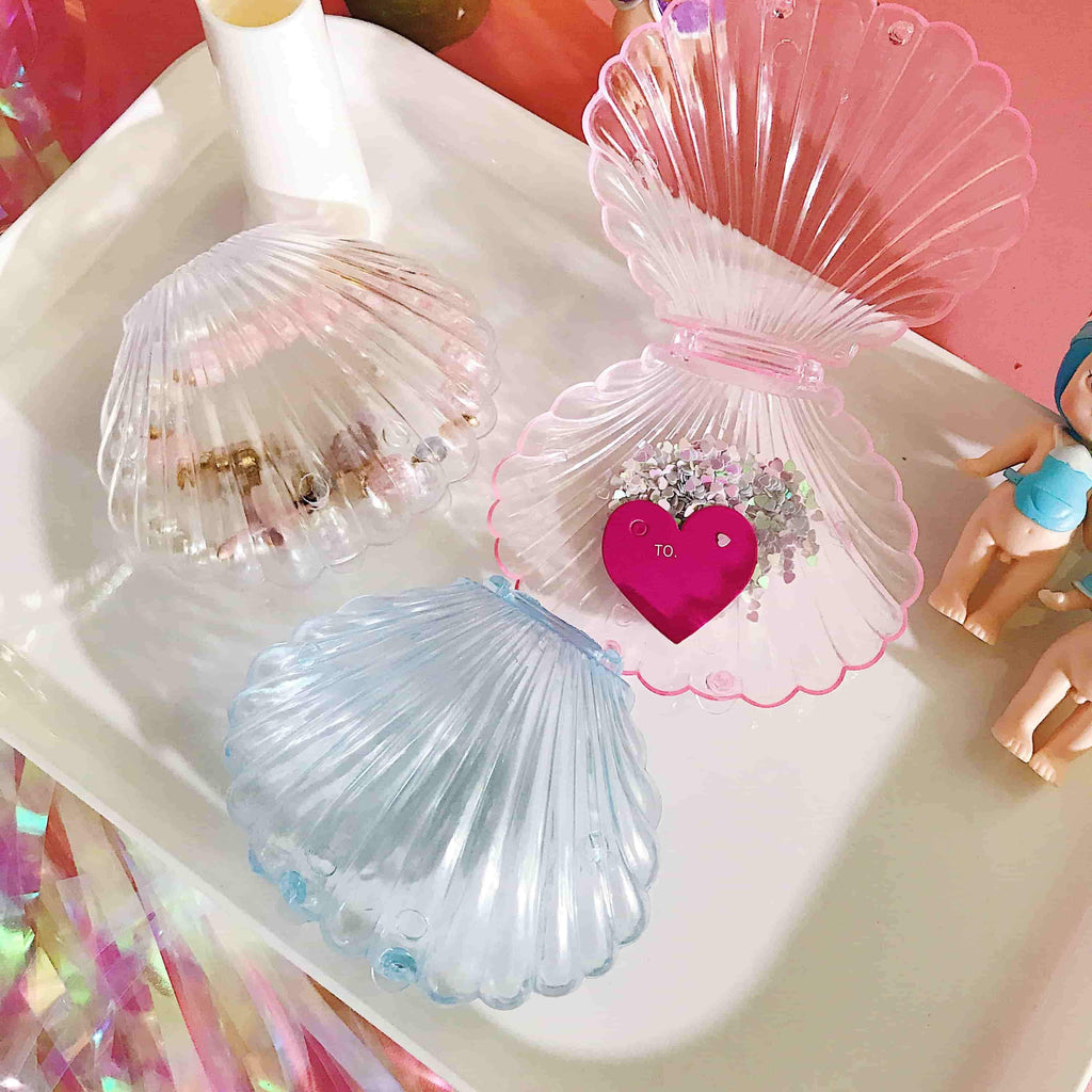 Harajuku Transparent Seashell Jelewery Box KW1812210