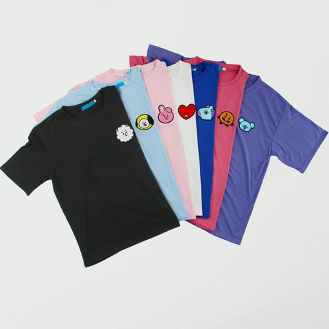 BTS BT21 Kawaii Printing Tee Shirt