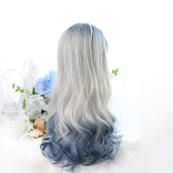 Grey Blue Mixed Ice Soft Lolita Girl Wig SS0901