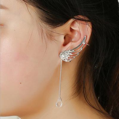 Japanese Harajuku Angel Winged Crystal Earrings