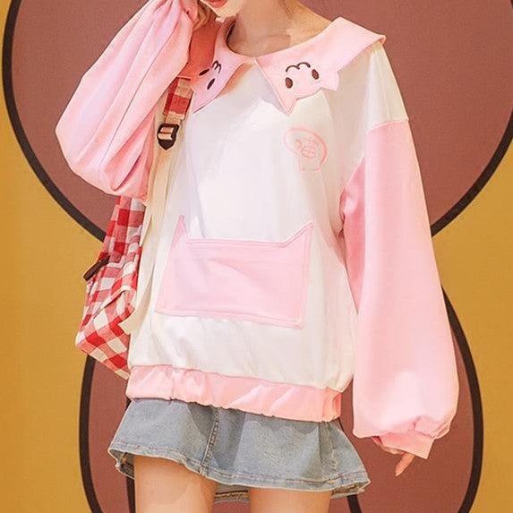 Japanese Kawaii Pink Neko Sweater