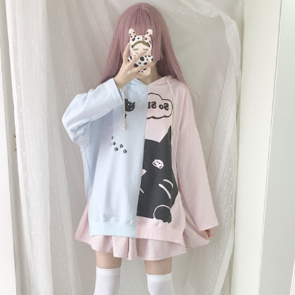 Japanese Kawaii Cartoon Hoodie Pullover KW1710810
