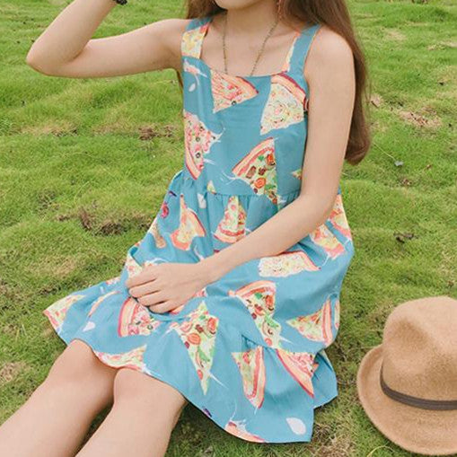 Japanese Sweet Pizza Loose Dress