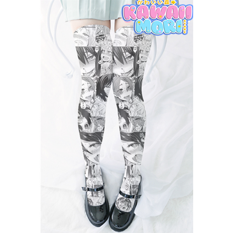 Kawaii Ahegao Long Socks K12768
