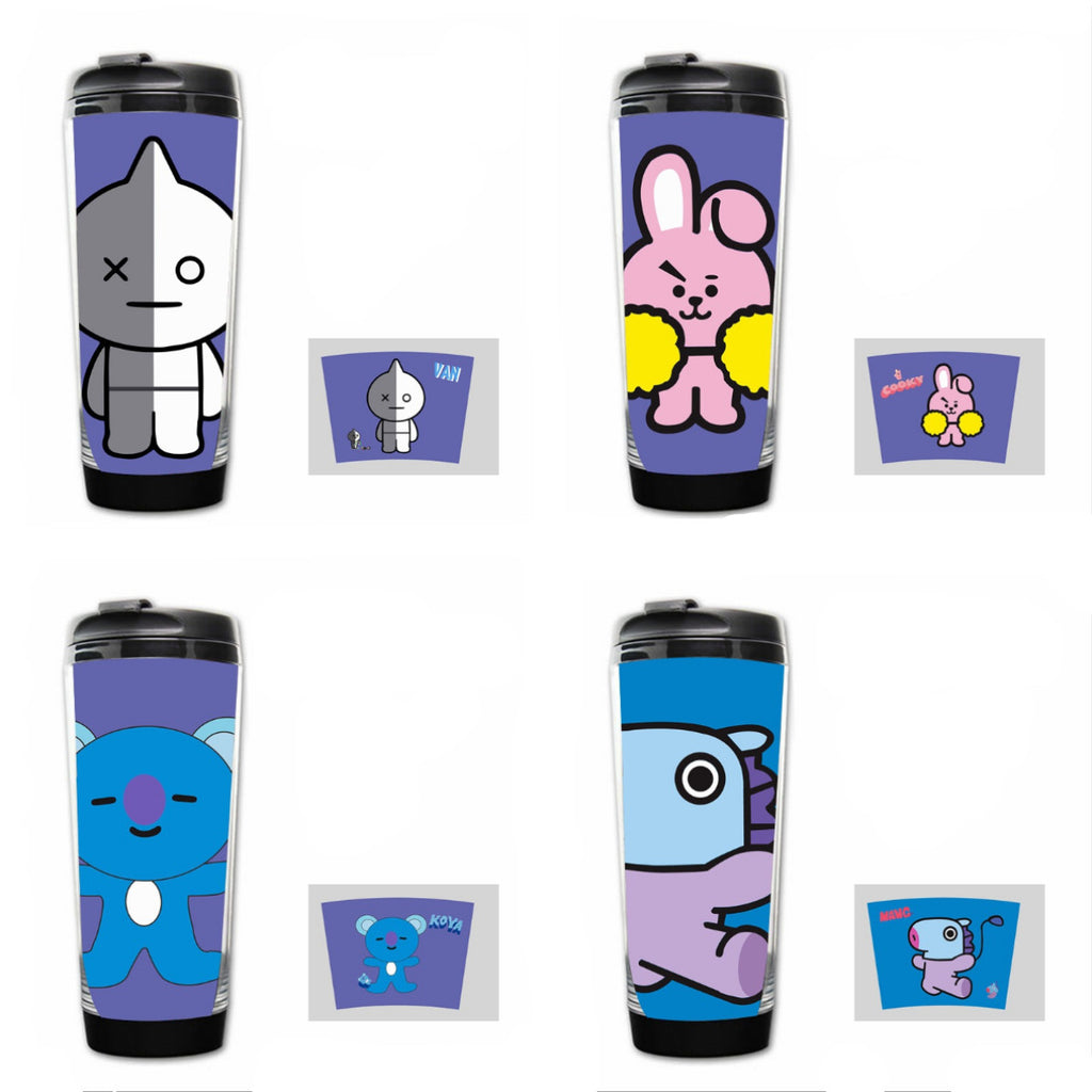 Kawaii BTS BT21 Water Bottle K12938