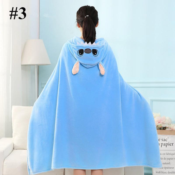 Kawaii Cartoon Velvet Hoodie Cape K14181
