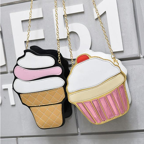 Kawaii Ice Cream Cake Cross Body Chain Bag K14302