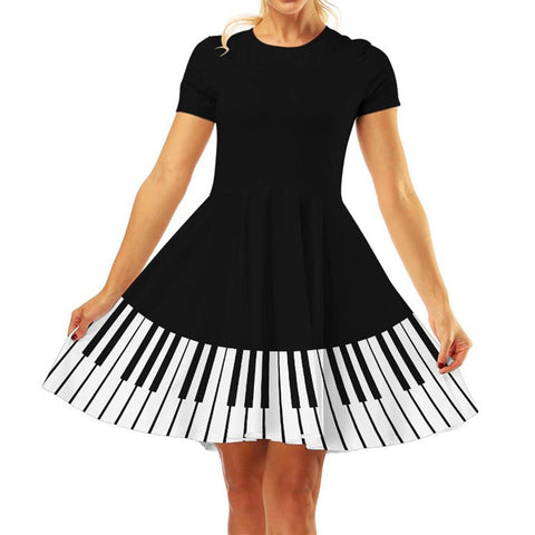 Kawaii Piano Printing Dress K13981