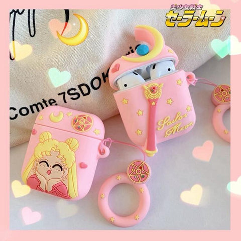 Kawaii Sailor Moon Airpods Protective Case K14049
