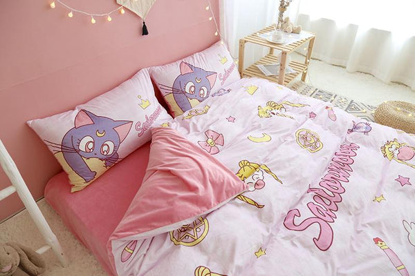 Kawaii Sailor Moon Bedding Sheet Set K14199