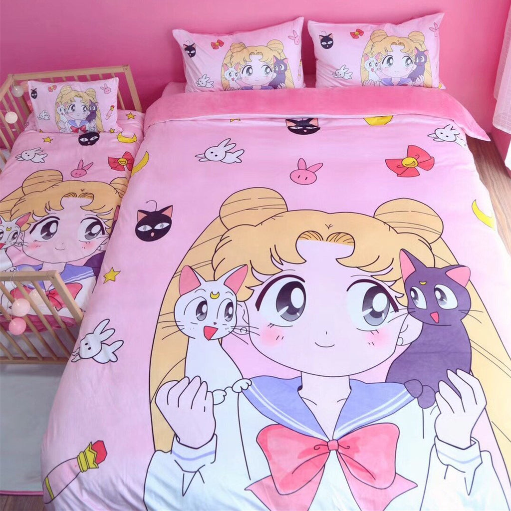 Kawaii Sailor Moon Luna Bedding Sheet Set KW1711515