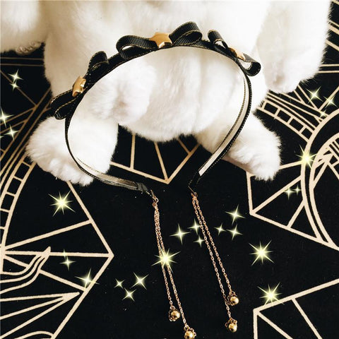Kawaii Stars Bow Headband