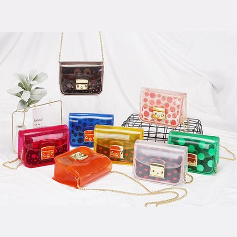 Kawaii Transparent Jelly Cross Body Bag K13988