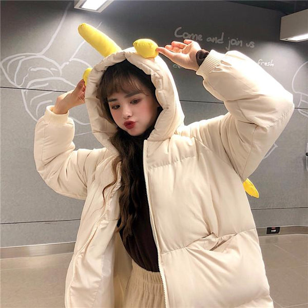 Kawaii Unicorn Wings Hoodie Coat K13442