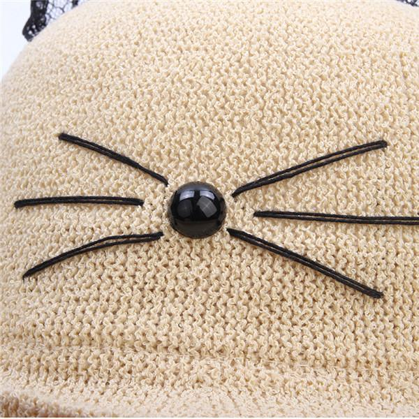 Kawaii Cat Ear Lace Fisherman Hat KW1710637
