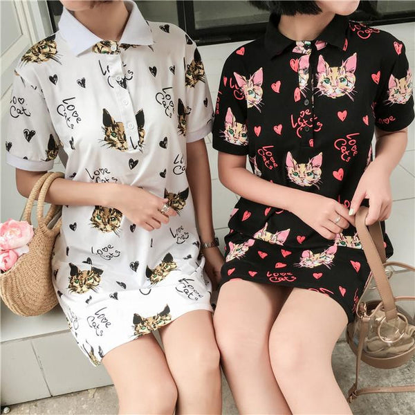 Kawaii Cat Printing Dress KW1710159
