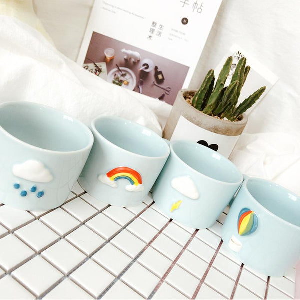 Kawaii Rainbow Mini Ceramic Cup