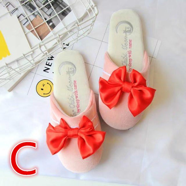 Kawaii Sailor Moon Bowknot Cotton Slippers KW1711006