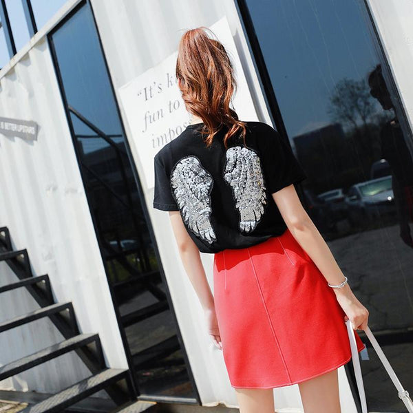 Korean Summer Winged T-shirt