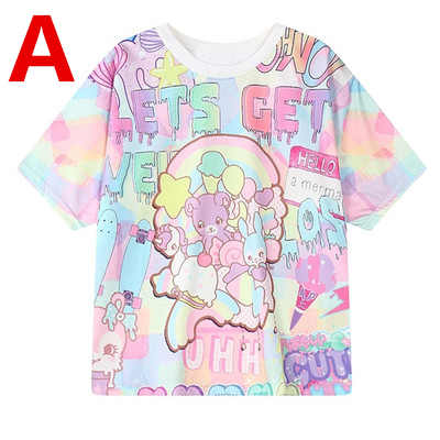 Japanese Harajuku Galaxy Unicorn T-shirt KW179701