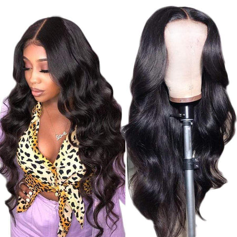 Human Hair Wigs Body Wave Natural Color Pre Plucked Brazilian Virgin Hair Wigs Natural Hairline