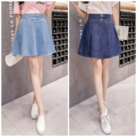 Light BlueDark Blue Sweet Denim Skorts K12738