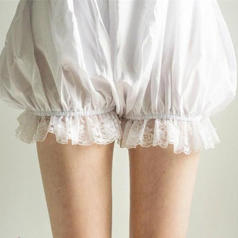 Lolita Cosplay Simple White Lantern Bloomer KW130106