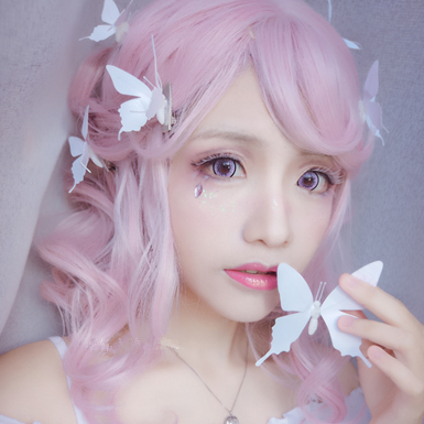 Lolita Pink Curly Wig KW1811894