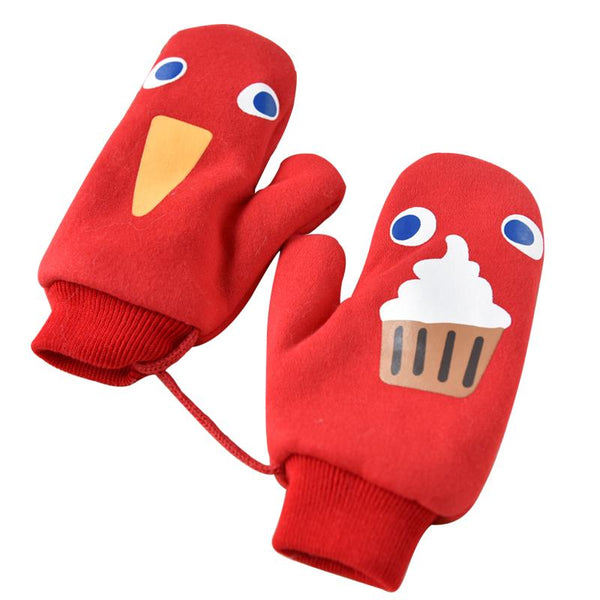 Lovely Cartoon Patterned Thicken Glove For Girls Sisters