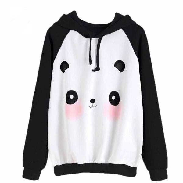 Lovely Panda Print Causal Long Sleeve Hoodie Jumper