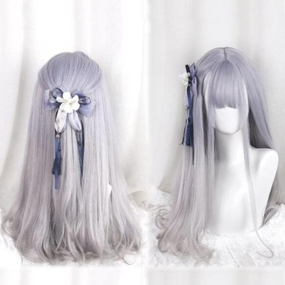 Purple/grey Gradient Harajuku Wig KW166221