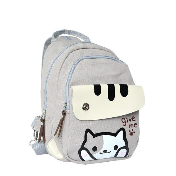 Neko Atsume Cat Backyard Printing Backpack KW165078
