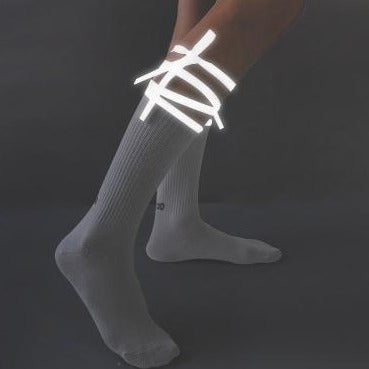 Reflective Lace-up Cross-character Socks K15139 - kawaiimoristore