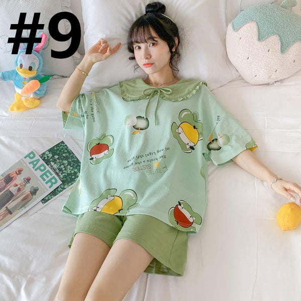 Sweet Pair Of Short Sleeved Pyjamas K15125 - kawaiimoristore