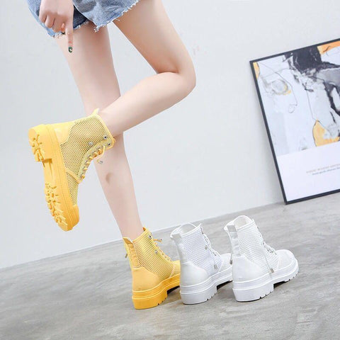 5 Colors Breathable Mesh Boots