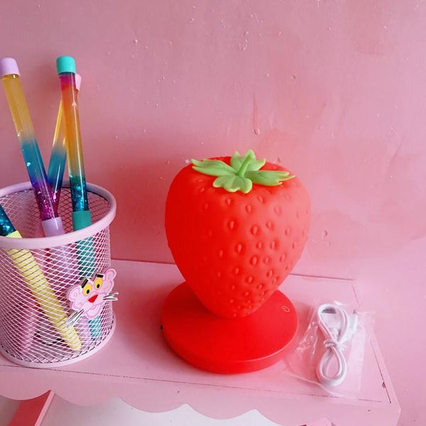 White/Red/Pink Kawaii Strawberry Lamp K14601