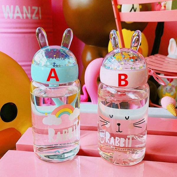 Cute Bunny Ears Water Bottle K13764