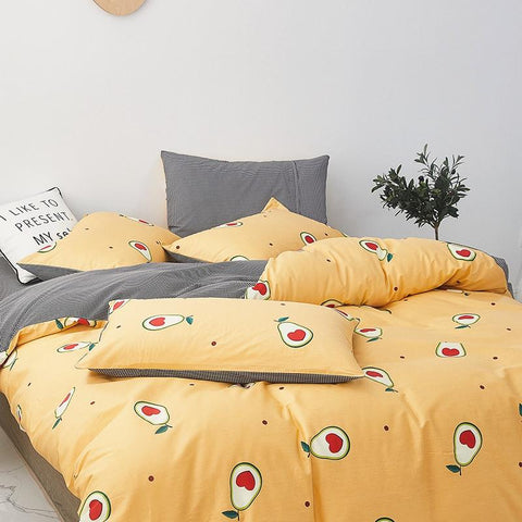 Cute Avocado Bedding Sheet