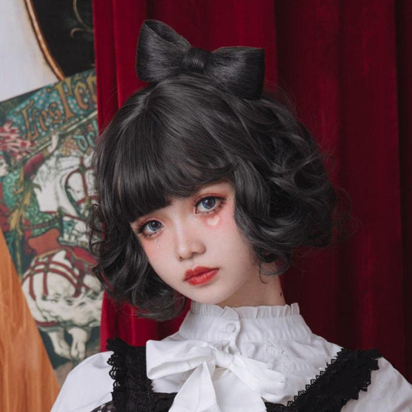 Edo Atomic Curly Short Wig SS0578 - kawaiimoristore